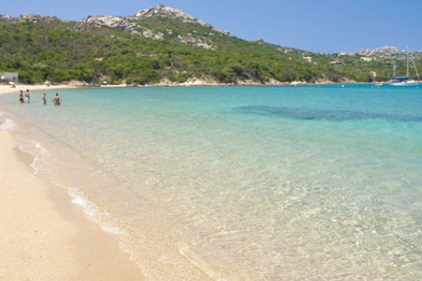 The clear water of the Sardinian sea