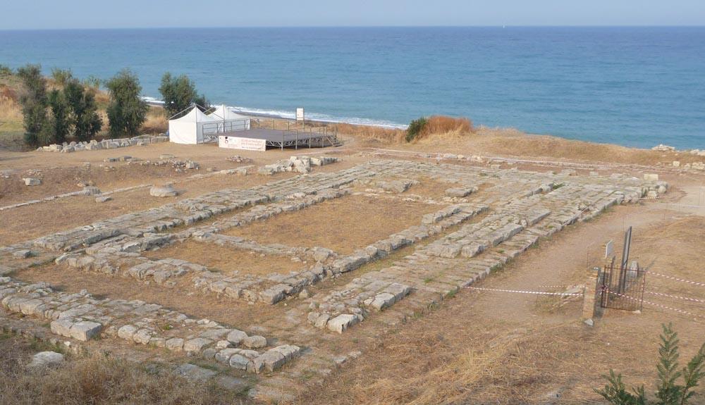 Tempio di Kaulon nell'area archeologica di Locri