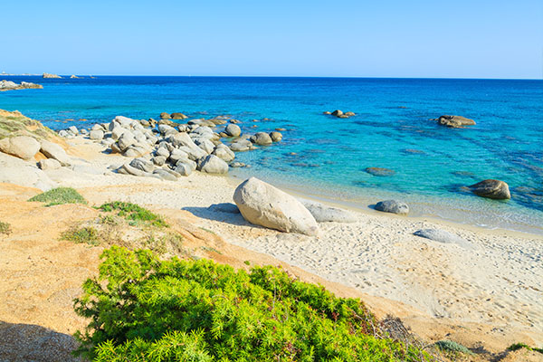 Free beach of Porto Sa Ruxi near the Club Esse Torre delle Stelle
