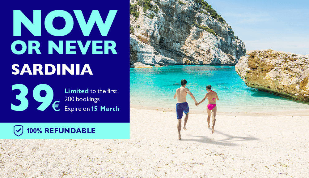 Now or never: on a beach holiday in Sardinia from 39 €