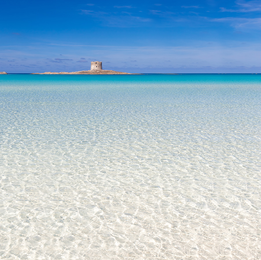 Turquoise sea in north west of Sardinia